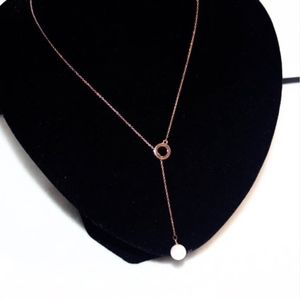 Jewelry - NWT Rose Gold Round Pearl Lariat Drop Necklace